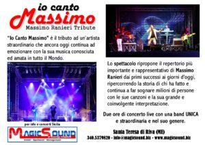 RANIERI IO CANTO MASSIMO MAGIC SOUND COVER BAND PROPOSTE SPETTACOLI