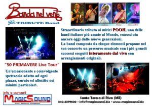 BANDA NEL VENTO POOH TRIBUTE BAND magic sound Domingo crisafulli eventi musica spettacolo