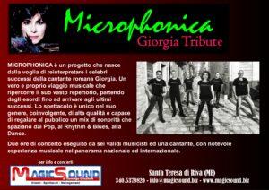 microphonica Giorgia tribute band magic sound Domingo crisafulli eventi musica spettacolo